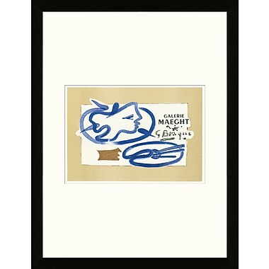 Artemis Editions School of Paris 'Galerie Maeght Paris 1950' by Georges Braque Framed Lithograph