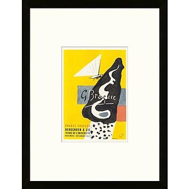 School of Paris 'Galerie Berggruen & Cie. Paris 1953' by Georges Braque Framed Lithograph