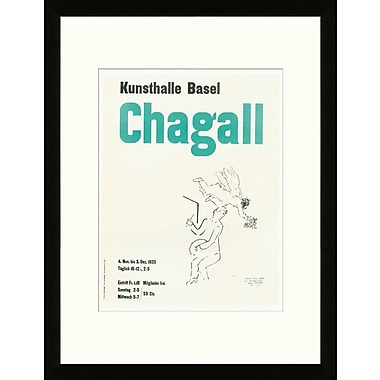 Artemis Editions School of Paris 'Kunsthalle Basel 1953' by Marc Chagall Framed Lithograph
