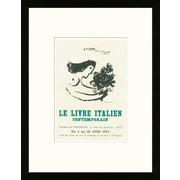 School of Paris 'Le Livre Italien Contemporain Nice 1953' by Marc Chagall Framed Lithograph