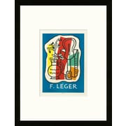 School of Paris 'Louis Carr  Gallery Paris 1953' by Fernand L ger Framed Graphic Lithograph