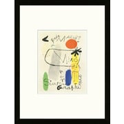 Artemis Editions School of Paris 'Art Graphique Paris 1950' by Joan Mir  Framed Lithograph