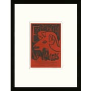 Artemis Editions School of Paris 'Exposition Vallauris 1952' by Pablo Picasso Framed Lithograph