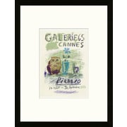 Artemis Editions School of Paris 'Galerie 65 Cannes 1956' by Pablo Picasso Framed Lithograph