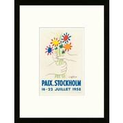 Artemis Editions School of Paris 'Paix Stockholm 1958' by Pablo Picasso Framed Lithograph