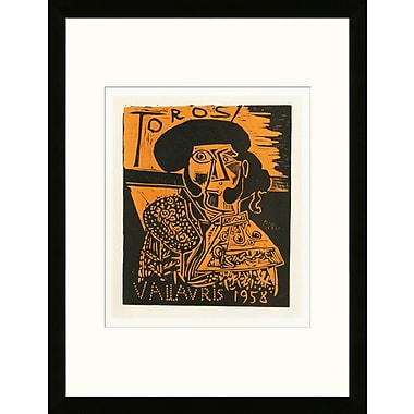 Artemis Editions School of Paris 'Toros 1958' by Pablo Picasso Framed Lithograph