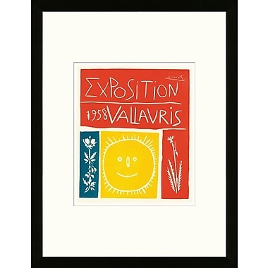 Artemis Editions School of Paris 'Exposition Vallauris 1958' by Pablo Picasso Framed Lithograph
