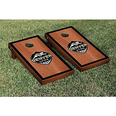 Victory Tailgate Colorado Denver Lynx Rosewood Stained Border Version Cornhole Game Set