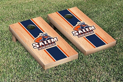 Victory Tailgate NCAA Salem State Vikings Hardcourt Stripe Version Cornhole Game Set