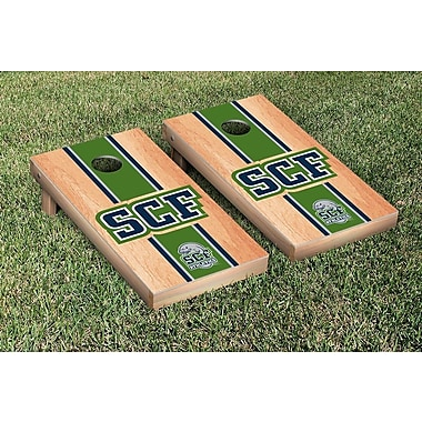 Victory Tailgate State College of Florida Manatees Hardcourt Stripe Version Cornhole Game Set