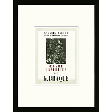 Artemis Editions School of Paris 'Oeuvre Graphique Paris 1947' by Georges Braque Framed Lithograph