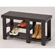 Wildon Home   3-Tier 7 Pair Shoe Rack; Espresso