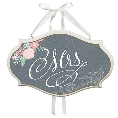 Lillian Rose ''Mrs.'' Oval Wedding Sign