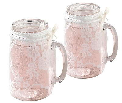 Lillian Rose Lace Glass Cover (Set of 4)