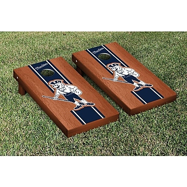 NCAA College Vault Connecticut UCONN Huskies Rosewood Stained Stripe Version Cornhole Game Set