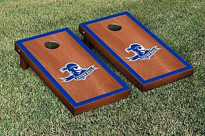 Victory Tailgate NCAA Rosewood Stained Border Wooden Cornhole Game Set