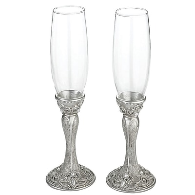 Lillian Rose Regal Elegance Toasting Glass Champagne Flute (Set of 2) WYF078280164379