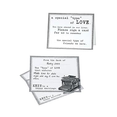 Lillian Rose Typewriter Guest Card (Set of 48)