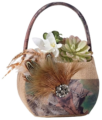 Lillian Rose Camouflage Flower Girl Basket WYF078280164406