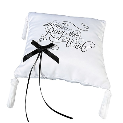 Lillian Rose ''With This Ring I Thee Wed'' Ring Bearer Pillow