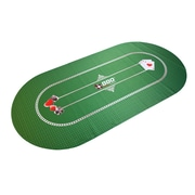 BBO Poker Portable Poker Party Mat; Green