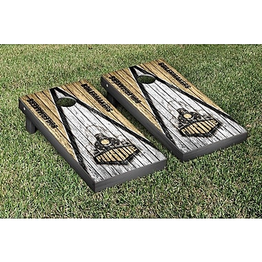 Victory Tailgate Triangle Weathered Version Cornhole; Purdue Boilermakers