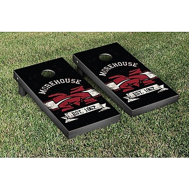 Victory Tailgate NCAA Banner Vintage Version Cornhole Game Set; Morehouse Maroon Tigers