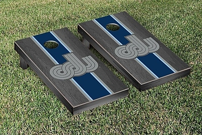 Victory Tailgate NCAA Onyx Stained Stripe Version Cornhole Bag Toss Game Set