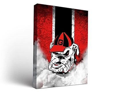 Victory Tailgate NCAA Georgia Bulldogs Vintage Framed Graphic Art on Wrapped Canvas