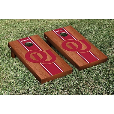 Victory Tailgate NCAA Rosewood Stained Stripe Version Cornhole Game Set