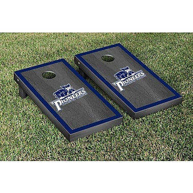 Victory Tailgate NCAA Onyx Stained Border Version Cornhole Bag Toss Game Set; Marietta Pioneers