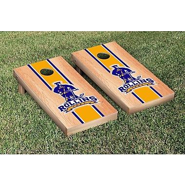 Victory Tailgate NCAA Hardcourt Striped Version Cornhole Game Set; Rollins College Tars