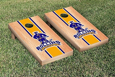 Victory Tailgate NCAA Hardcourt Striped Version Cornhole Game Set; Rollins College Tars