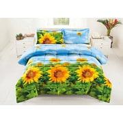 Homechoice International Group Sunflower 3 Piece Comforter Set; Queen