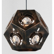 CrystalWorld Sasha 1-Light Geometric Pendant