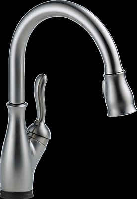 Delta Leland Single Handle Standard Kitchen Faucet; Arctic Stainless