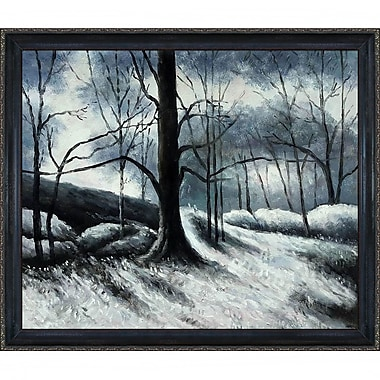 Tori Home Melting Snow, Fontainebleau by Paul Cezanne Framed Painting