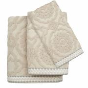 Colordrift LLC Andrea Cotton Jacquard 3 Piece Towel Set