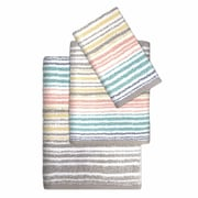 Colordrift LLC Paxton Cotton Striped 3 Piece Towel Set