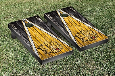 Victory Tailgate Triangle Weathered Version Cornhole; Arkansas Pine Bluff Golden Lions WYF078280169407