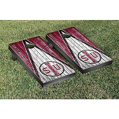 Victory Tailgate NCAA Triangle Weathered Version Cornhole Boards Game Set
