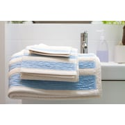 Mili Designs Linen/Cotton 550 grams 3 Piece Towel Set w/ Single Border; Blue