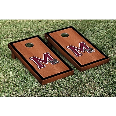 Victory Tailgate NCAA Rosewood Stained Border Version Cornhole Bag Toss Game Set