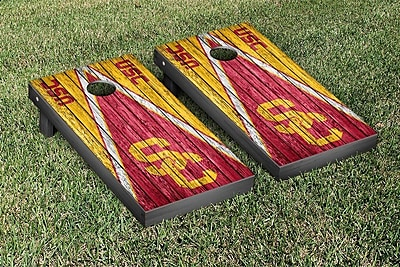 Victory Tailgate Triangle Weathered Version Cornhole; Southern California USC Trojans