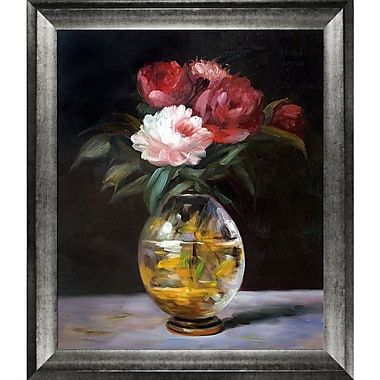 Tori Home Bouquet of Flowers by Edouard Manet Framed Graphic Art on Wrapped Canvas