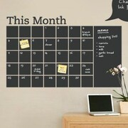 SimpleShapes Calendar w/ Memo Chalkboard Wall Decal