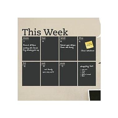 SimpleShapes Weekly Calendar Chalkboard Wall Decal