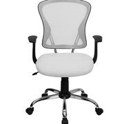 FamisCorp Mid-Back Mesh Desk Chair; White