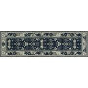 Art Carpet Maison Navy Blue/Cream Indoor/Outdoor Area Rug; Runner 2'7'' x 13'1''