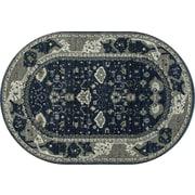 Art Carpet Maison Navy Blue/Cream Indoor/Outdoor Area Rug; Oval 5'3'' x 8'1''